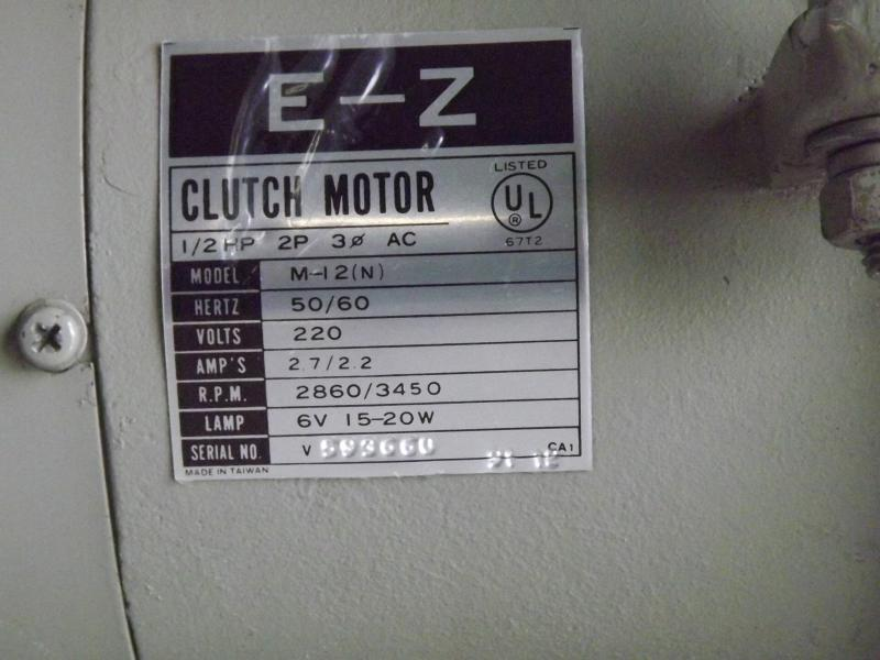 E -Z M12 220V 3PH Sewing Machine Motor 4